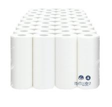 32 oder 64 Stück Küchenrollen Küchenkrepp 3 lagig Zellstoff weiß 51 Blatt/Rolle