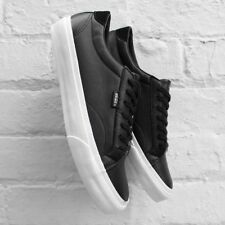 NEW VANS COURT DX LEATHER BLACK MENS SIZE 7.5 LACE UP SHOES NEW IN BOX