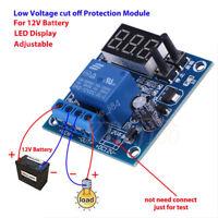 12V Battery Low Voltage Undervoltage Anti-Over Discharge Protection Board LED LJ