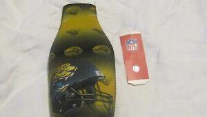 NFL Jacksonville Jaguars Jagwires Longneck Beer Bottle Koozie Holder Cooler New