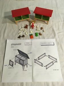 Lot 7: Playmobil Two Rabbit Hutch 3075 - Gently Used - NO BOX - Incomplete Sets