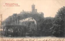 SCHAUMBURG GERMANY COBLENZ RAILROAD CANCEL TO USA  POSTCARD 1903