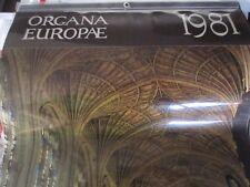 """Vintage Organ Calendar """"Organa Europae"""" 1981 from France Organ Photos/Book Info"""