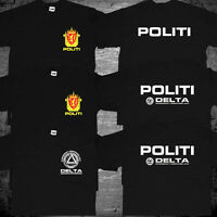 New Norway Norwegian Police Politi Special Rescue Unit Delta Force Logo T shirt
