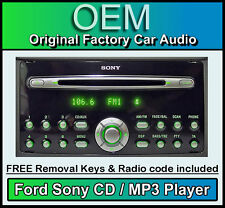 Ford Focus Sony CD player, Ford car stereo radio, AUX Compatible + Code & Keys