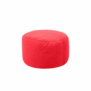 Bean Bag Ottoman Footrest Cover Round Footstool Stool Chair Cover Seat No Filler