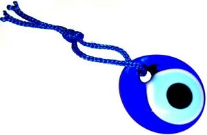 GREEK / TURKISH EVIL EYE Lucky Charm Amulet Teardrop Blue Glass Wall Hanging 3cm