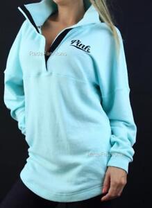 Victoria's Secret PINK Sweatshirt Quarter Snap Mockneck Logo NWT