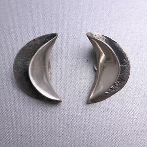 Ohr- Clips, Silber 925, Organic Schmuck Design- H.Lenferink, ungetragen  #12-01
