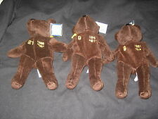 Lot (3) Bam Beanos Stuffed Bears Maris Sosa Salvino Collectibles Brand New Nice