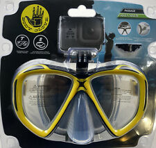 *NEW* Body Glove Adult Diving Mask w/Go Pro Camera Mount for Snorkeling Swimming