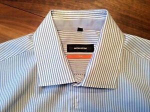 Herrenhemd Business Hemd Seidensticker  Slim Gr 40  M extra langer Arm top
