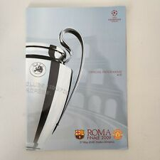 Champions League Final Programme 2009 Barcelona Vs Manchester United