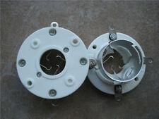 2PCS Big 4PIN Silver Plated Ceramic Vacuum Tube Socket for 845 211 805 810 813