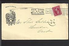 NEW YORK, NEW YORK I899 ILLUST. ADVT/ AIKIN LAMBER & CO .PENS ON X BORDER COVER.