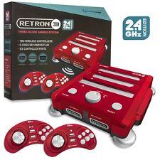 Retron 3 3in1 Retro Console 2.4 GHz for Nintendo NES SNES Sega Genesis Games Red