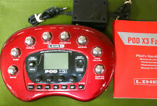 Line 6 PODX3 line6 amp modeler POD X3 multi-effects POD-X3 w/ AC Adapter +Manual