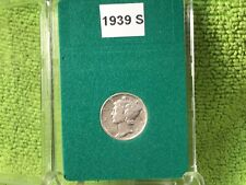 1939 S MERCURY DIME EF - 2 OBVERSE METAL ERRORS IN BCW SLAB HOLDER