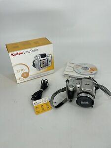 Kodak EasyShare Z710 7.1 MP Digital Camera silver color tested working 10X Zoom
