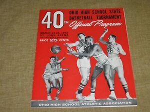 Original OHIO HIGH SCHOOL STATE BASKETBALL TOURNAMENT 1962 Program Team Photo 13