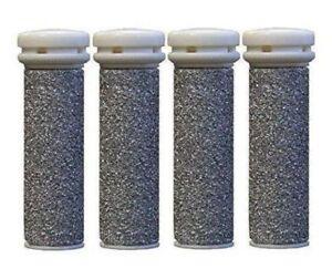 4 x Extreme Coarse Micro Mineral Replacement Rollers for Emjoi Micro Pedi