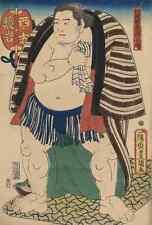 A4 Photo Toyokuni Utagawa 1769 1825 The sumo wrestler Kagamiiwa of the West Side