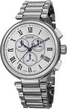 August Steiner AS8148SS Swiss Quartz Chronograph Date Silvertone Mens Watch