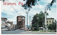 """Pennsylvania Avenue, Warren PA, Gateway to Allegheny National Forest""  Postcard"