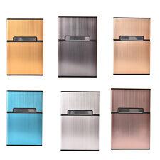 Men Metal Pocket CigarCigarette Case Box Tobacco Holder Container Rose Gold C@eG