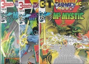 MS. MYSTIC DEATHWATCH 2000 #1-#3 SET (NM-, SEALED) CONTINUITY COMICS, NEAL ADAMS