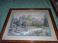 Home Interiors, Framed Print, Pretty Mountain cabin, Lee K. Parkinson, Lot #N4
