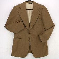 GEOFFREY BEENE Vtg 70s Brown Houndstooth BLAZER SPORT COAT SUIT JACKET Men's 38S