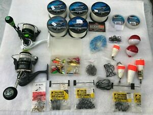 Lew's ,Wright&Mcgill spinning reels /Hooks/lines,etc , never been used.