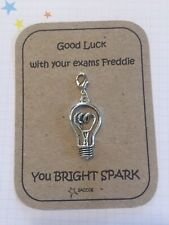 Good Luck With Your Exams Bright Spark Gift Personalised Key ring Charm Saccos