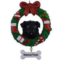 Shepherd Dog Wreath Holiday Dog Christmas Tree Ornament Xmas Decorations/ Gift