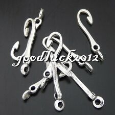 50477 Antique Silver Alloy Mini Fish Hooks Pendants Charms Craft Findings 97x