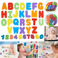26 Letters 10 Numbers Foam Floating Tub Bathroom Toys For Kids Baby Bath Toy UK