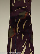 "*$119* NWOT PREMIUM EXECUTIVE ""GQ"" PURPLE MENS DESIGNER TIE ADOLFO ITALIAN SILK"