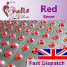 56 x 8mm Red Quality Rhinestone Diamante Gems Diamonte 4 Greeting Card Crafts
