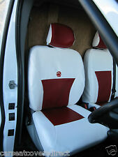RENAULT TRAFFIC RED & WHITE VAN SEAT COVERS