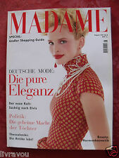 ▬►Madame (Allemand) 08/1998 Mode Fashion Haute Couture Gina Marie_Elvis Presley