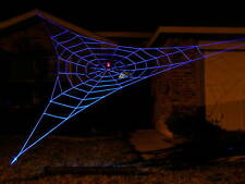 25' GIANT GlowWeb Rope Spider Web Halloween House Yard Prop Decoration