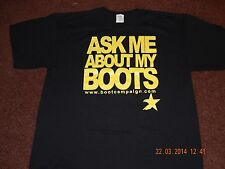 BOOTCAMPAIGN.COM ASK ME ABOUT MY BOOTS BLACK SIZE XL T-SHIRT FREE SHIPPING