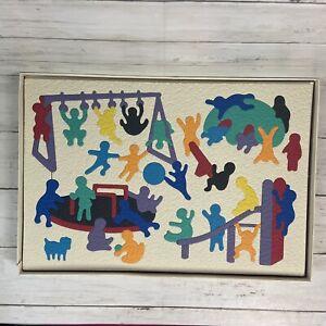 Vintage Lauri PLAYGROUND FOAM PUZZLE #2184 Children's Toy Complete 76 Pieces