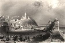 Macduff, near Banff, Aberdeenshire. Scotland. BARTLETT c1840 old antique print