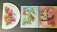 Vintage Rare Quality Crest QC Printed in USA Lot of 3 Verity of Cards NOS