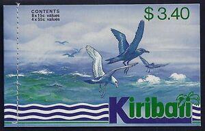 1987 KIRIBATI SEABIRDS BOOKLET CONTAINING 12 STAMPS FINE MINT MNH/MUH