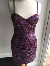 Lipsy Ladies Patterned Sleeveless Lined Dress Size 10. Great Condition.