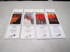 LOT TAIZE CALENDRIER 2004 2007 2009 2010 PRIERES DE FRERES ROGER DE TAIZE *