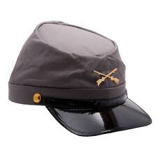 Confederate Army Hat Soldier Kepi Civil War Cotton Grey Cap Costume Confederacy